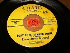 EMMITT DAVIS BIG BAND - PLAY BOY'S SUMMER THEME   / LISTEN - RNB ORGAN POPCORN