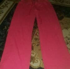 DKNY Red Velvet Cotton Blend NEW Pullover and Pant Lounge Set M