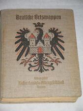 Sammelordner Deutsche Ortswappen ~ um 1925 ~ 775 Stk., alle Blätter vollständig!