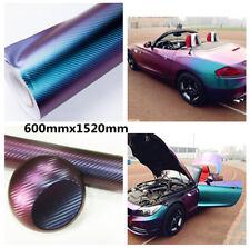 Purple Blue Auto Car Body Film UV Resistant Waterproof Color Change Sticker Cool