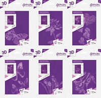 "NEW Crafters Companion Gemini - 3D Embossing Folder & Stencil 5"" x 7"""