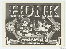 Honk Manna 1975 May 10 the Orange County Fairgrounds Handbill Rick Griffin