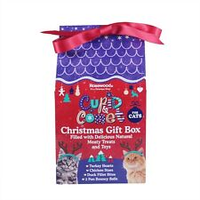 Rosewood Cupid & Comet Christmas Gift Box for Cats - 120g - 3 x Treats, 2 x Toys
