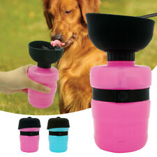 Dog Travel Water Bottle Leakproof Portable Outdoor Pet Drinking Fountain Bowl