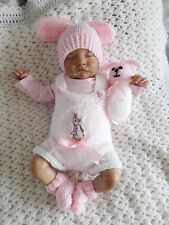 More details for beautiful  knitted romper set for 19/20 inch reborn baby/ 🐇🐇