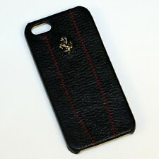 CG Mobile Ferrari iPhone 4 / 4S Black Leather & Stitching Case