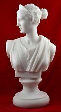 artemis diana bust greek statue nature moon goddess white free shipping