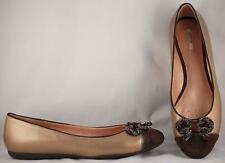 Women's Geox Respira Gold and Brown Ballet Flats Shoes US 9.5 EUR 40