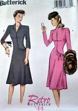 1940s DRESS BUTTERICK RETRO SEWING PATTERN 6-8-10-12-14 UC