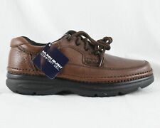 Nunn Bush Cameron Brown Tumble Leather Comfort Gel Shoe Mens Size 8 W 83890 NEW