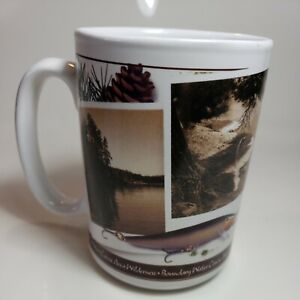 Rare Vintage Rapala Boundary Water Canoe Area Minnesota Wilderness Coffee Mug