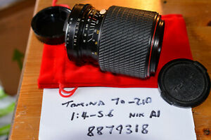 Tokina SD 70-210mm F4-5.6 Manual Focus Zoom For Nikon AI Cameras - Works Well