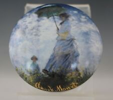Goebel Artis Orbis German Porcelain Claude Monet Trinket Box Woman With Parasol