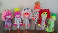 "Set of 6 Blacklight Boy & Girl Puppets 13""tall Yarn Hair-ministry, Christian Ed"
