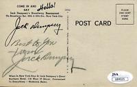 Jack Dempsey Autographed Post Card (JSA)