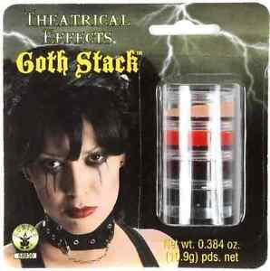 Goth Stack Makeup Vampire Face Paint Fancy Dress Up Halloween Costume Accessory