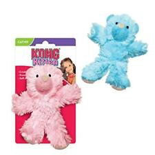KONG Cat KITTEN TEDDY BEAR Plush Crinkle Cuddle Catnip Nip Play Fun Hunt Toy