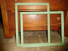 New Listing2 Antique Vintage Matching Picture Frames Large Green Wooden Ornate