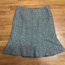Josephine Chaus Skirt Size 10 Part Silk Black White Lining Flare Career