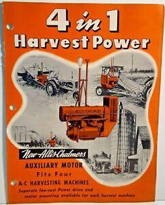 Allis Chalmers Auxiliary Motor Sales Brochure 1952