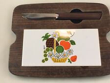 Retro vintage cutting board. Perfect and Very Brady Bunch!