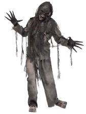Adult BURNING DEAD ZOMBIE Fancy Dress Costume Mens Halloween Fun World One Size