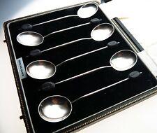 Vintage Set 6 Coffee spoons Bean Terminal Sterling Silver Birmingham 1938 Cased
