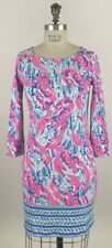 Lilly Pulitzer Marlowe Dress Cosmic Coral Cracked Up Pima Cotton Sz XL