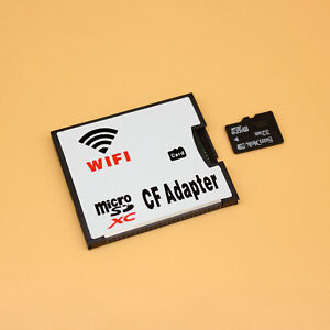 MicroSD Card to Wifi Wireless CF Card Type I Adapter, TF to Wifi Converter