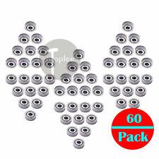 60x 1x3x1mm Miniature Mini Micro Ball Bearings Shield Bearing Replacement 681zz