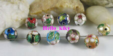 60Pcs Mixed colour cloisonne enamel round beads 12mm M2164
