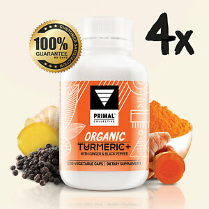 2 Month Supply: Organic Turmeric+ with Ginger & Black Pepper Capsules.