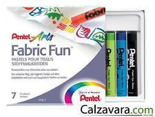 PENTEL Pastelli per Tessuti e Stoffa Ottima Qualità - Fabric Fun 7 colori