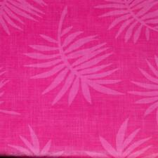 52x70 Oblong VINYL TABLECLOTH~Flannel Back~Pink Palm Leaf/Birthday/Shower~NEW