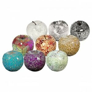 MOSAIC GLASS APPLES WITHOUT LEAF - CHOOSE COLOURS - GREAT FOCAL POINT FOR ROOMS