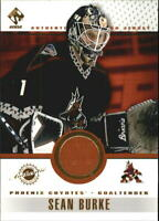 2001-02 (COYOTES) Private Stock Game Gear #73 Sean Burke