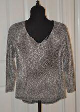 Lightweight Sweater Black, Gray & White Size L
