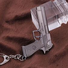 Hot 10cm Cross Fire CF Desert Eagle Pistol Weapon Metal Gun Keychain Keyring
