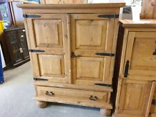 Pine 2 Door Cabinet Solid Wood Rustic Tv Storage