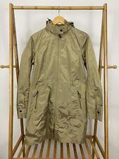 Eddie Bauer WeatherEdge Plus Waterproof Metallic Gold Zip Hooded Rain Jacket M