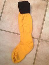 Gold & Black Football Socks contrast sizes 2- 6  set of 10