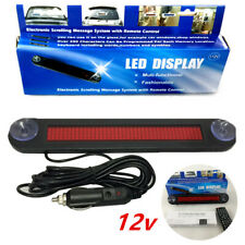 Universal Car LED Editable Message Sign Scrolling Display Board Remote Control