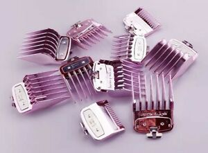 Pink Hair Clipper Attachment Guards For Wahl CLIPPERS Magic Clip & Babyliss Pro