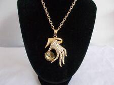 Yellow Gold Plated Rhinestone Fashion Necklaces & Pendants