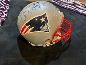 New England Patriots NFL Authentic Proline Helmet Signed by Brandon Meriweather