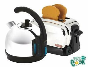 Kids Kettle And Toaster Set Toy Breakfast Includes Pretend Toast Children Play