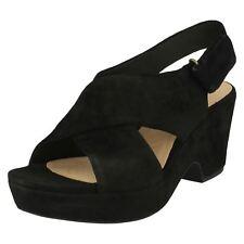 d3203dc92c4d0 Clarks Ladies Slingback Scoop Wedge Sandals - Maritsa Lara Black UK 7 D