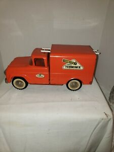 VINTAGE PRESS STEEL TONKA PRIVATE LABEL ADVERTISING TERMINIX TOY TRUCK EXCELLENT