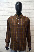 TOMMY HILFIGER  Camicia a Quadretti Uomo Taglia 2XL Maglia Camicetta Shirt Men's