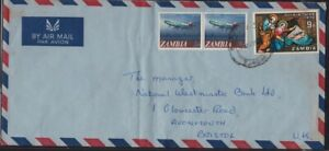 ZAMBIA 1972? COVER to UK @D3879